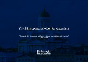 Honkanen & Piispanen sopimusoikeus